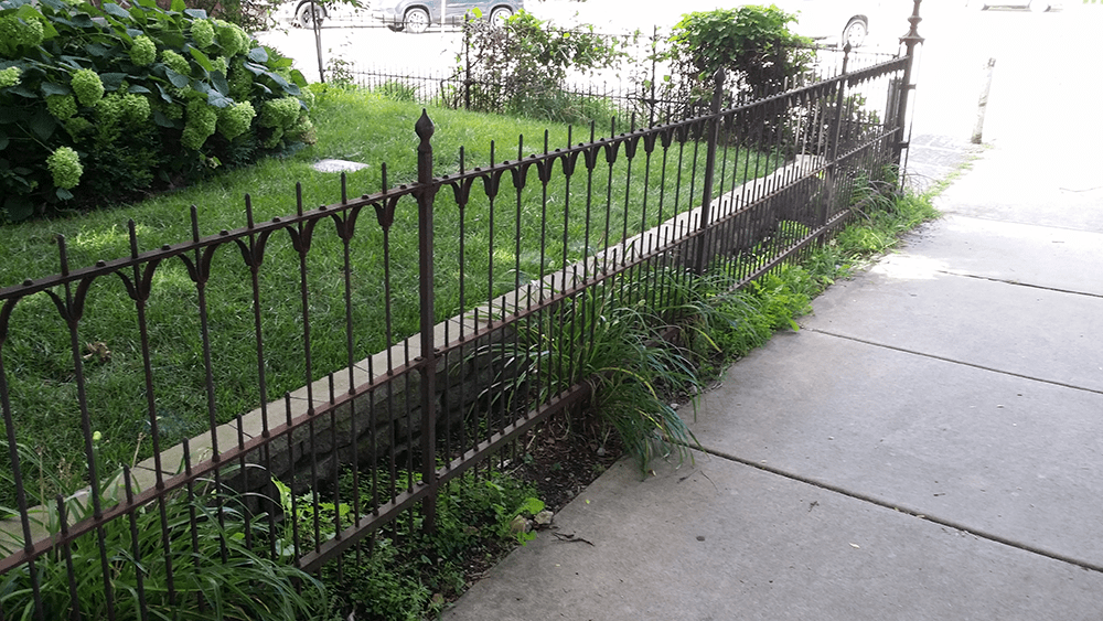 beautiful wrought iron fencing is an option at van dame outdoor maintenance lafayette indiana